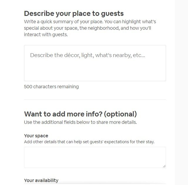 Viết mô tả căn nhà theo hướng dẫn của Airbnb