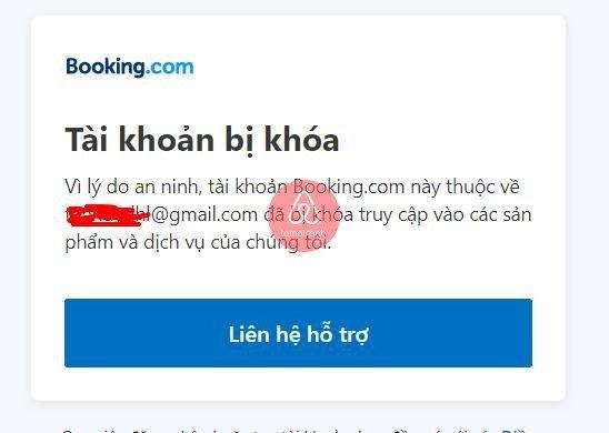 Tự dưng booking báo bị khóa tài khoản, phải làm sao ?