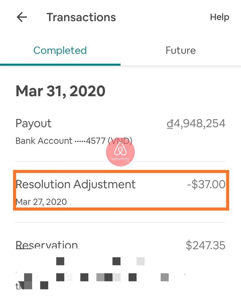 Airbnb sẽ tự điều chỉnh nếu bạn nợ trong những booking tiếp theo